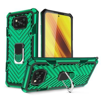 $ CDN11.75 • Buy For Xiaomi Pocophone POCO X3 NFC Case Car Magnetic Stand Ring Back Cover For Mi