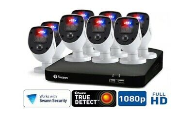 AU728 • Buy Swann Enforcer 8 Camera 8 Channel 1080p Full HD DVR Security System