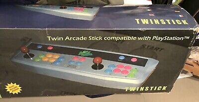 Rare Twin Arcade Stick. Skream. Twinstick 2 Player For Playstation 1 + Box • 150£