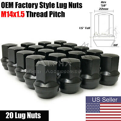 $31.95 • Buy 20 Black OEM Factory Style Lug Nuts M14x1.5 For Jeep Grand Cherokee Gladiator