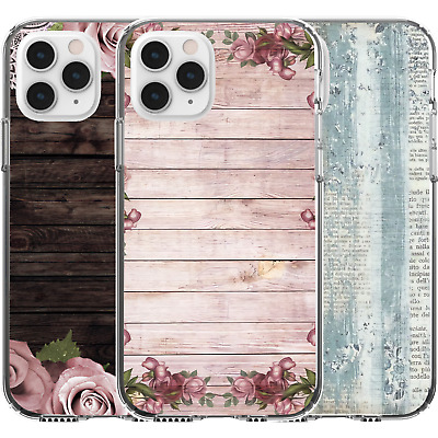 AU16.95 • Buy Silicone Cover Case Wood Effect Washed Out Rain Stained Flowers Roses Aged