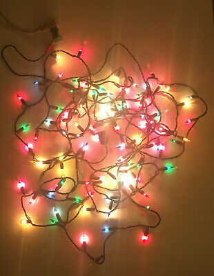 $ CDN12.61 • Buy Vintage Christmas Tree Lights Green Wire 100 Ct. Multi Color Mini TESTED & WORKS