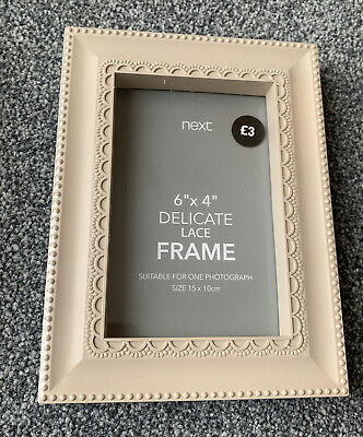Next Delicate Lace  6 X 4 Photo Frame • 3£