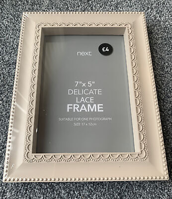Next Delicate Lace 7x5 Photo Frame • 4£