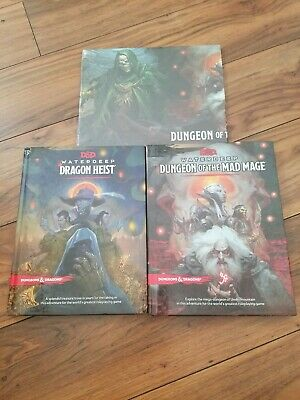 AU89.27 • Buy Dungeons & Dragons 5th Edition Waterdeep Adventure Set (Dragon Heist + Mad Mage)