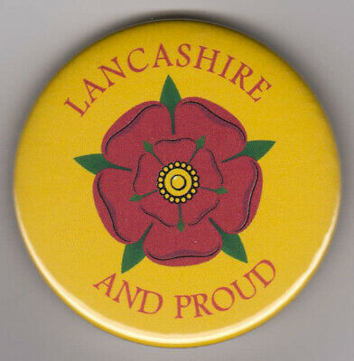 Lancashire And Proud Badge - Show Pride In Red Rose County With Button Pin • 2.99£