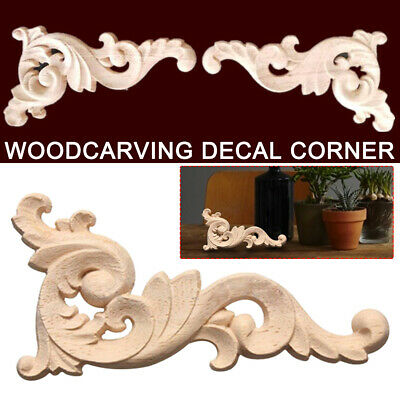 AU11.70 • Buy Home Applique Frame European Style Woodcarving Decal Corner Furniture Decor