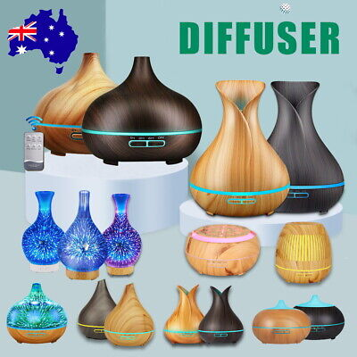 AU21.99 • Buy Aromatherapy Diffuser LED Aroma Essential Oil Ultrasonic Air Humidifier Mist AU