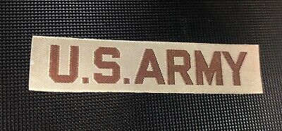 $1.45 • Buy Military Patch Us Army Name Tape Tag Desert Tan Sew On For Desert Camo