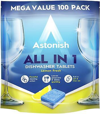 Astonish All In 1 Dishwasher Tablets, 100-Piece • 8.14£