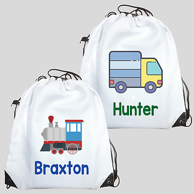 AU26.95 • Buy Personalised Drawstring Bag -Transport Truck Car Tractor Library Bag