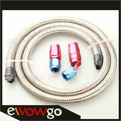 AU28.59 • Buy AN-8 8AN Stainless Steel Braided Fuel Gas Line Hose 1M + Swivel Hose End Fitting