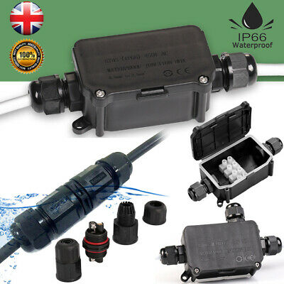 Waterproof Junction Box Case Outdoor Underwater Electrical Cable Wire Connectors • 5.68£