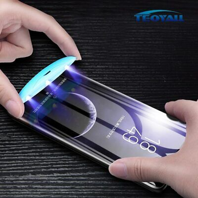 $ CDN8.85 • Buy Full Glue Cover Liquid Curved Tempered Glass For Samsung Galaxy S20 S10 S9 S8