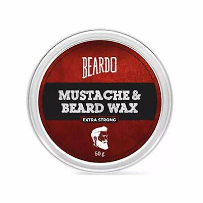 Strong Beard And Moustache Styling Wax For A Clean And Sleek Look 50g  FREE SHIP • 10.99£