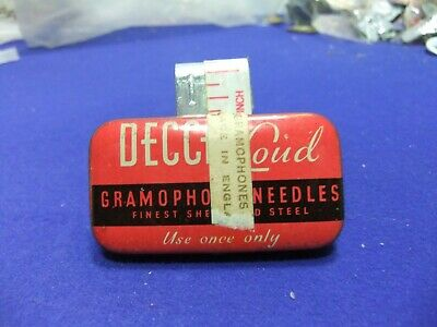 Needle Tin Gramophone Decca Loud Tone Advert Advertising Record Player • 16£