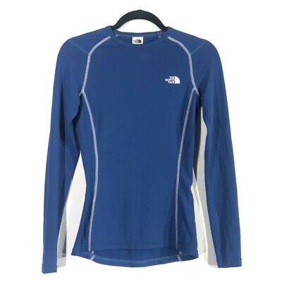 £14.17 • Buy The North Face Womens Base Layer Top Shirt Blue Long Sleeve Crew Neck Fitted S