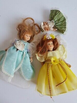 $ CDN14.98 • Buy Porcelain Doll Lot Two With Real Feathers