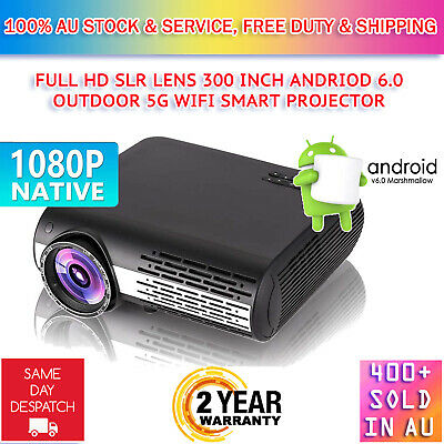 AU349.95 • Buy 8500Lumen Native 1080P Android SLR Lens WiFi Outdoor Home Theatre LED Projector