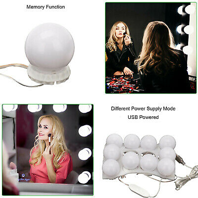 10X Hollywood LED Vanity Mirror Lights Kit Dimmable Bulbs For Makeup Dressing PE • 10.79£