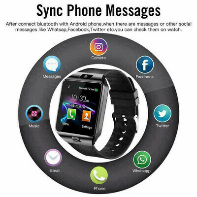 AU12.20 • Buy DZ09 Smart Watch Band Bracelet HD Touch Screen Single SIM Wristband Phone Camera