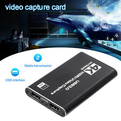 4K HDMI Video Capture Card USB 3.0 1080P/2 Ports HD Game Record Live Streaming • 28.99£