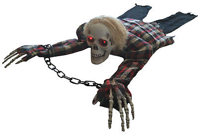 $ CDN37.34 • Buy HALLOWEEN ANIMATED CRAWLING Skeleton LIGHTS SOUNDS PROP DECORATION HAUNTED HOUSE