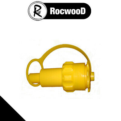 £10.25 • Buy Yellow Petrol Anti Spill Spout For Rocwood Chainsaw Combi Combination Fuel Can