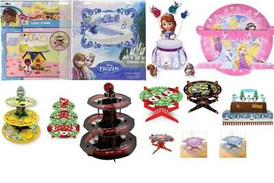 £4.99 • Buy Birthday Party Round Cake Stand Board Decoration Set Kit 1, 3 Tier Cupcakes