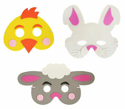 Easter EVA Foam Mask For Children To Make Decorate - Fancy Dress Party Nativity • 3.49£