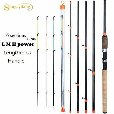 Feeder Fishing Rod Lengthened Handle 6 Sections Fishing Rod L Power Carbon Fibe • 19.85£