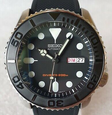 $ CDN706.41 • Buy SEIKO SKX007 Mod  Yacht Black  NH36A Barton Silicon Strap New Condition
