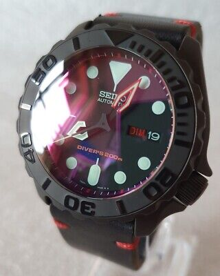 $ CDN737.13 • Buy SEIKO SKX007 Mod  The Red And The Black  V2 NH36A Leather Strap New Condition