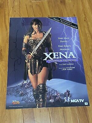 RARE Xena Lucy Lawless Autographed PROMO Vintage Poster No Chakram No Prop • 99.15£