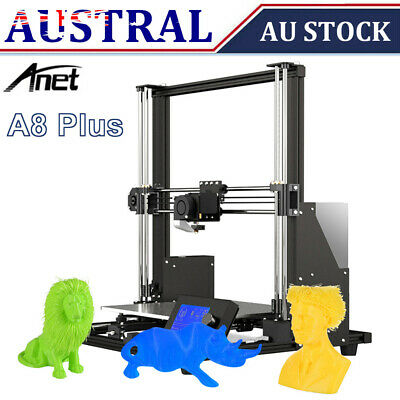 AU280.25 • Buy Anet A8 Plus Upgraded High Precision DIY 3D Printer Kit 300*300*350mm +1KG PETG