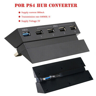 AU8.69 • Buy 5 Ports USB Expansion Converter Adapter Charger Splitter Hub 0 For PS4 Console
