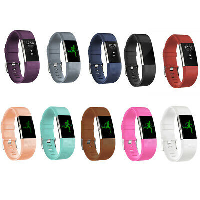 $ CDN3.23 • Buy Silicone Rubber Band Strap Wristband Bracelet Replacement For Fitbit Charge 2