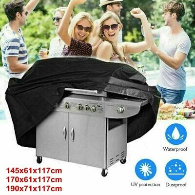 AU21.49 • Buy BBQ Cover 2/4/6 Burner Waterproof Outdoor Gas Charcoal Barbecue Grill Protector