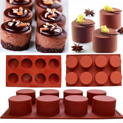 AU7.96 • Buy 8 Holes Silicone Muffin Donut Chocolate Cupcake Baking Pan Mold Tray 8C