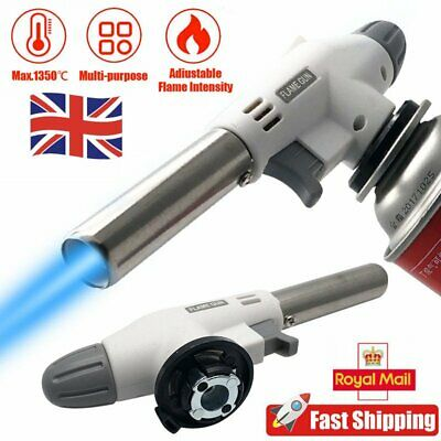 Kitchen Blow Torch Gas Micro BBQ Camping Cook Soldering Flame Torch Adjustable • 7.54£