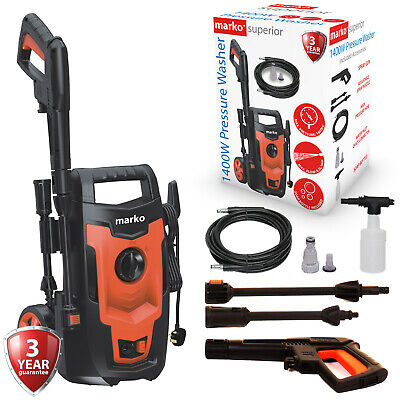 £64.99 • Buy Electric Pressure Washer 1400W High Power Jet Powerful Wash Patio Car Cleaner