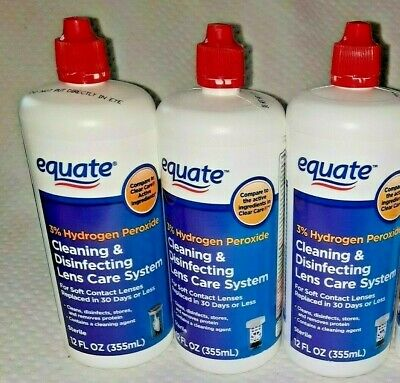 AU23.81 • Buy 3 Equate 3% Hydrogen Peroxide Cleaning & Disifecting Lens 12 Oz COMP CLEAR CARE