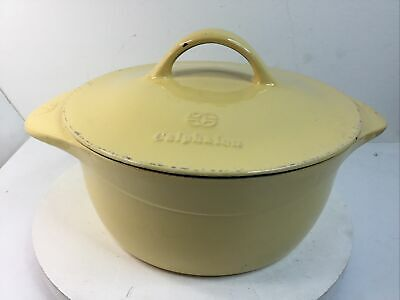 $ CDN88.49 • Buy Calphalon 5 Qt. Cast Iron Enameled Dutch Oven W Self Basting Lid - Yellow