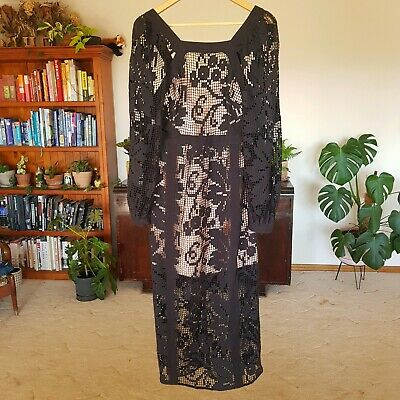 AU95 • Buy Alice McCall You've Got The Love Dress Black Size 12 Lace EUC