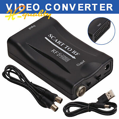 £2.26 • Buy 480P Scart To RF Video Audio Adapter Converter 67.25Mhz/61.25Mhz + Cable For TV