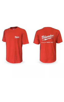 £11 • Buy Milwaukee 4939434073 Limited Edition Red With White Logo Work T-Shirt Large