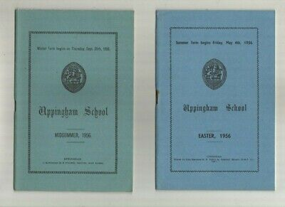 Uppingham School  Alphabetical Lists ? 5  Booklets, Covering  Terms 1955/56/57 • 4.75£