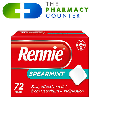 Rennie Spearmint | 72 | Indigestion Heart Burn • 5.90£