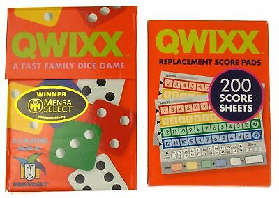 $ CDN21.51 • Buy Qwixx Game & Replacement Score Pads Lot 300 Sheets Family Game Dice Replacement