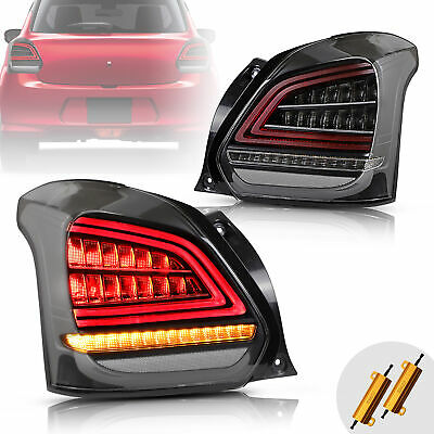 AU369.99 • Buy VLAND Full LED Tail Lights For Suzuki Swift Sport 17-19 W/ Sequential Indicators